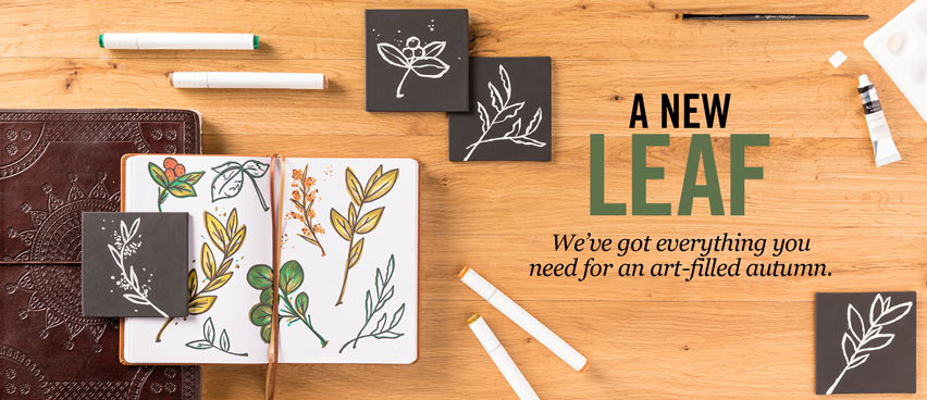 A New Leaf We've got everything you need for an art-filled autumn.
