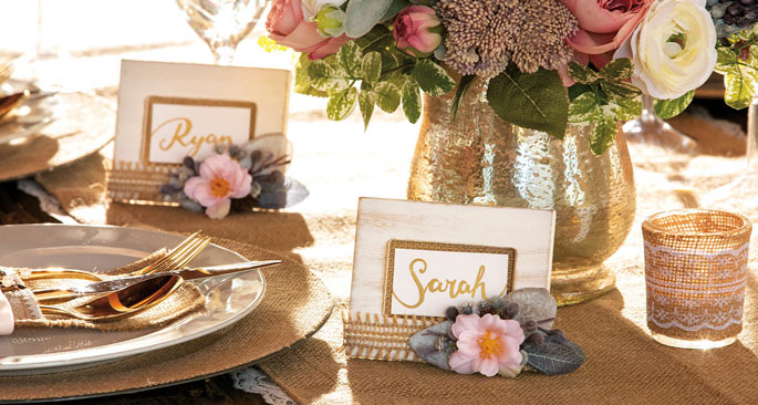 Burlap Wedding: Bit of Burlap