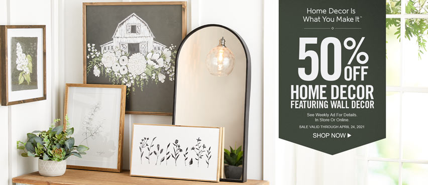 50% off Home Décor